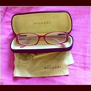 Bulgari Eyeglasses with original case and cloth.